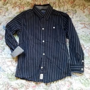 Oshkosh B'Gosh 6 Boys Button Up Black White EUC